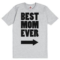 Best Mom Ever-Unisex Dark Ash T-Shirt