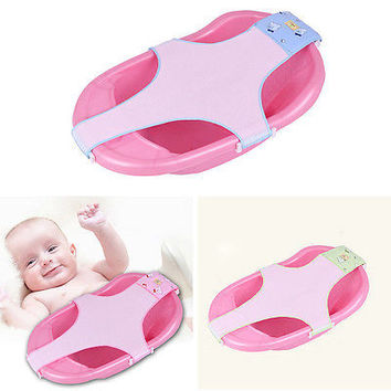 GT Baby Bathing Net Adjustable Safety Bath Shower Seat Support Cradle Bed 3C&