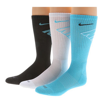 Nike Dri-Fit Fly Crew 3-Pair Pack Gamma Blue/(Black)/White/(Gamma Blue) - Zappos.com Free Shipping BOTH Ways