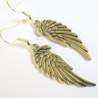 Angel Wing Earrings, Silver Wing Earrings, Heavenly Angelic Earrings, READY To SHIP
