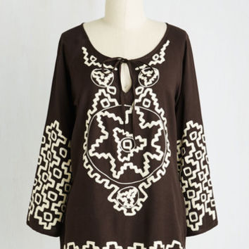Boho Mid-length Transcoastal Train Ride Top