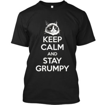 Grumpy Cat Keep Calm And Stay Grumpy Poster Graphic  Custom Ultra Cotton