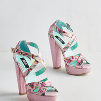ModCloth Quirky Scream and Sugar Heel