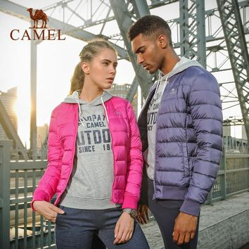 CAMEL 2018 New Couple Winter Jacket Ultra Light 90% White Duck Down Jackets Casual Portable Winter Coat For Size Down
