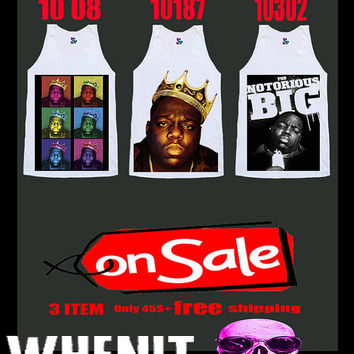 Free Shipping worldwide shipping just 7 days 3 item set of THE NOTORIOUS BIG shirt singlet tank top 5002