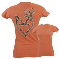 Browning Women's Camo Buckheart Fitted T-Shirt