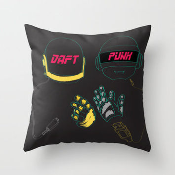 Daft Punk - Digital Love Throw Pillow by April Yim