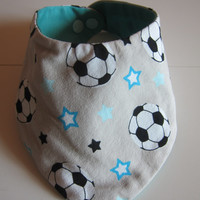 Baby Bloomers pants with reversible bib set, football, Handmade, Made to Order,