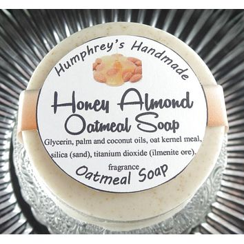 HONEY ALMOND Oatmeal Soap | Exfoliating Mechanics or Gardeners Bar