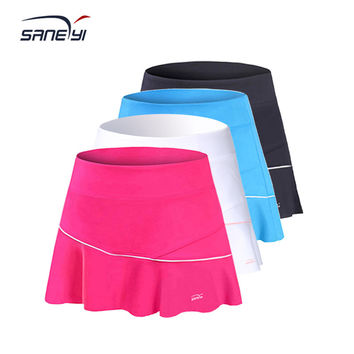32eSANERYI Women's Flounce Knit Tennis Skirt/ Cheerleading Skirt/ Sports Skirt/ Badminton Skort
