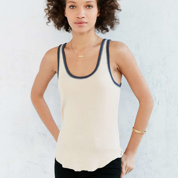 BDG Lucy Ribbed Knit Ringer Tank Top - Urban Outfitters