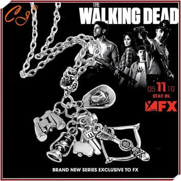 Popular TV drama The walking dead necklace Speed sell through selling 6-in-1 creative necklace