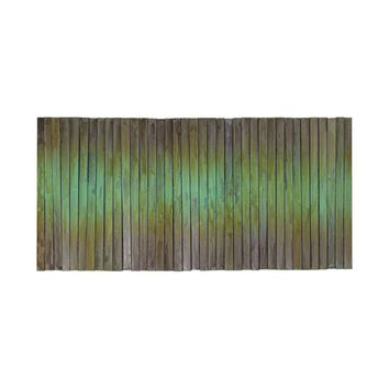 Metal Wave Wall Art Oxidized Copper