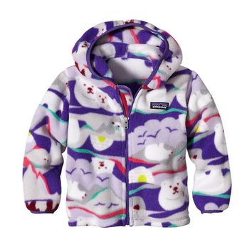 Patagonia Baby Synchilla® Fleece Cardigan | Polar Play: Tundra Purple