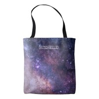 Personalized Purple Stardust Tote Bag