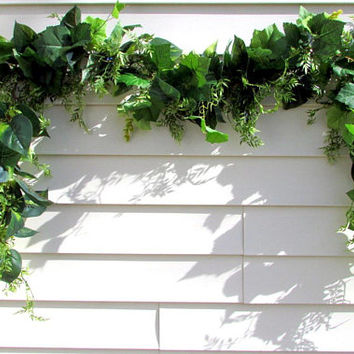 Greenery garland, year round garland, wedding garland, sunroom decor, archway swag, headboard garland, garland for mantel, cottage decor