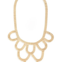 On a Grand Scale Necklace in Gold