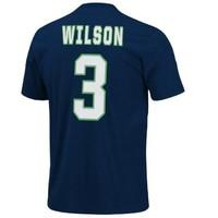 NFL Seattle Seahawks Russell Wilson #3 Eligible Receiver Name & Number T-Shirt, Large