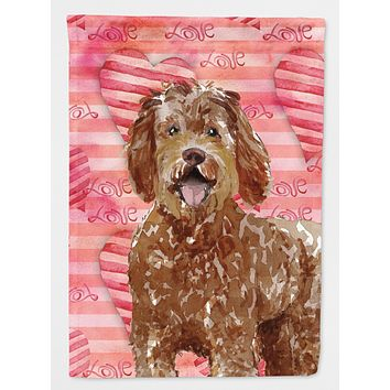 Love a Labradoodle Flag Canvas House Size CK1763CHF