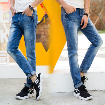 England Style Slim Men Denim Pants Jeans [6528727491]