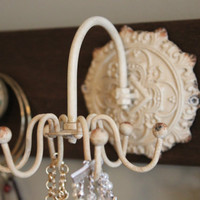 Jewelry organizer, necklace spinner, with additional knobs and hooks