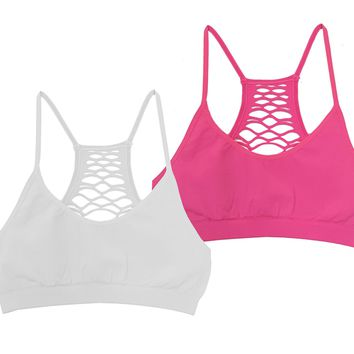 Lattice Racerback Bralette - 2 pack