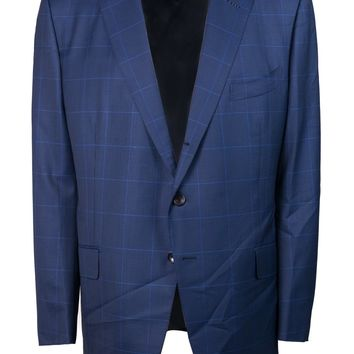 Tom Ford Men's Blue Wool Plaid O'Connor Two Piece Suit