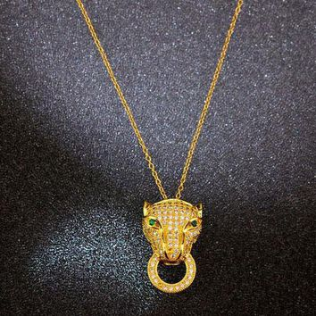 Cartier Woman Fashion Animal Plated Necklace Jewelry