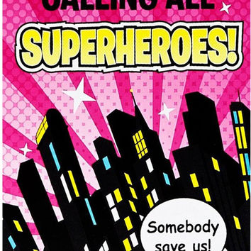 superhero girl invitations Case of 4