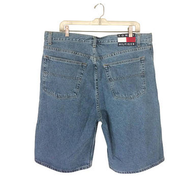 Vintage 90s Tommy Hilfiger Shorts Tommy Hilfiger Men 90s Clothing Men Jean Shorts Men Denim Shorts 90s Shorts Men 1990s Clothing