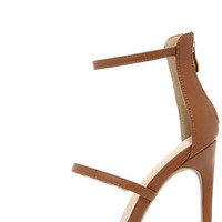 Three Love Tan Dress Sandals