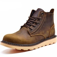 Luxury Leather Working Boots for Men
