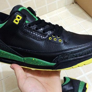 "Air Jordan 3 III Retro Black ""Black  Duck""136064-535 Basketball Sneaker"