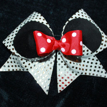 Cheer bow for the mouse lover