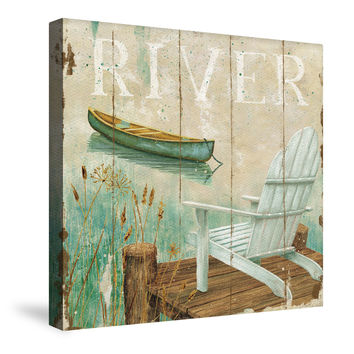 Waterside III (River) Canvas Wall Art