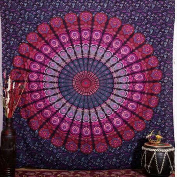 India Mandala tapestry hippie wall hang Bohemian bedspreads home decoration Europe and the United States wind large beach shawl
