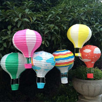 Hanging Hot Air Balloon Lanterns // Set of 8 //  Baby Shower // Bridal Shower // Kids Room // Birthday Party
