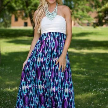 Well Traveled Printed Maxi Dress