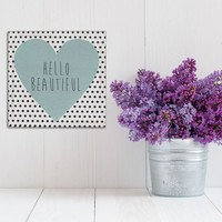 Stratton Home Decor ''Hello Beautiful'' Wall Art
