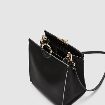 CROSSBODY BAG WITH RING DETAILS