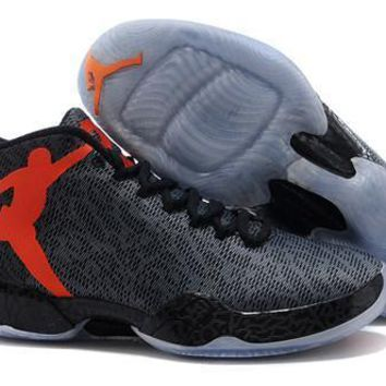 Cheap Air Jordan XX9 Fushion Men Shoes Black Team Orange Grey