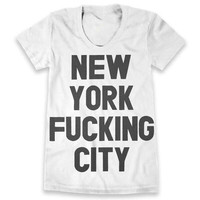 New York F***ing City Tee - White