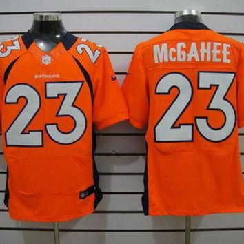 ICIKU3N Nike Broncos #23 Willis McGahee Orange Team Color Mens NFL Elite Jersey