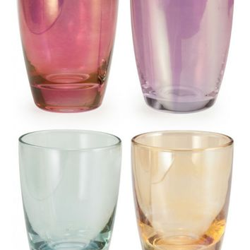 Shot Luster Glasses - Set of 4 (Orchid, Champagne, Berry & Mint)