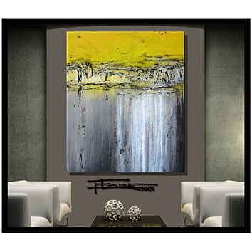 Modern Abstract Canvas wall art, Contemporary Painting, Limited Edition CONSTRUCTION ZONE by ELOISExxx