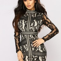 Serenade The Streets Lace Dress - Black