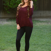 Miracle Sweater - Burgundy