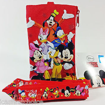 DISNEY MICKEY MOUSE&FRIENDS LANYARD WITH DETACHABLE COIN POUCH/WALLET/PURSE-NEW