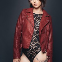 Ruby Tuesday Faux Leather Biker Jacket