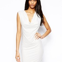 Arrogant Cat Slinky Body-Conscious Dress - White